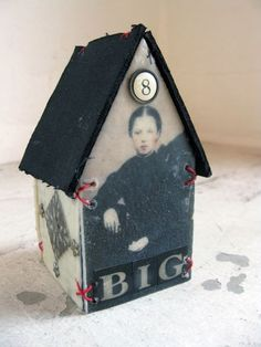 I thought these were beautiful, Jenny! Altered Art, Altered Boxes, Kitsch, Paper Houses, Art Houses, Wax Art, Ceramic Houses, Cabana, Encaustic Painting