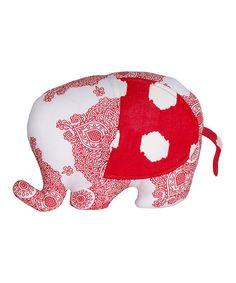 3b7605f8bbd7a This Masala Baby Red  amp  White Ikat Elephant by Masala Baby is perfect!