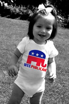 WEEPUBLICAN Baby Bodysuits Tot Tees Just in Time for by MyCowDazy, $14.00