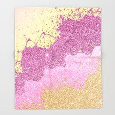 Sunset pink shadows Throw Blanket