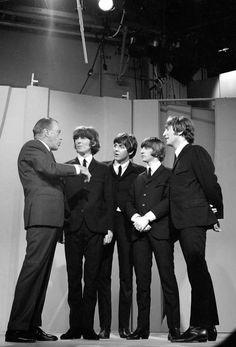Ed Sullivan & The Beatles~~Feb. 1964 on The Ed Sullivan Show.