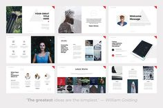 Present your works professional and clean with Hybrid Minimal, this powerpoint presentation template has a contemporary design, with cool photo layouts. Company Presentation, Presentation Design, Presentation Templates, William Golding, Change Picture, Professional Powerpoint Templates, Slide Design, Photo Layouts, Wedding Website