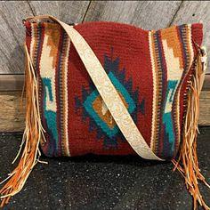 Leather Fringe, Leather Handle, Leather Purses, Leather Handbags, Cute Purses, Purses And Bags, Cowgirl Style Outfits, Kids Purse, Saddle Blanket