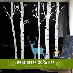 Hey, I found this really awesome Etsy listing at https://www.etsy.com/listing/235660577/removable-white-winter-birch-tree-wall