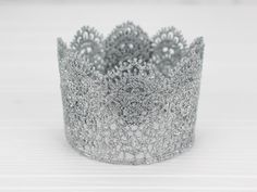 Birthday Lace Silver Crown - Mini First Birthday Party Crown - Baby Photography Prop - Princess Sparkly Crown 1st Birthday Tutu, 1st Birthday Outfits, Baby Girl Birthday, Disney Birthday, First Birthday Parties, First Birthdays, Mini One, Cake Smash Photos, Tutu Outfits