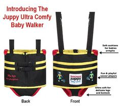 The most effective walking assistant harness on the market. The Juppy Baby Walker helps babies learn to walk safely. Its the only one that fits in a purse.