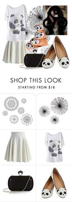"""""""Living the panda lifestyle"""" by spasticcrocodile ❤ liked on Polyvore featuring Wall Pops!, Chicwish and Diane Von Furstenberg"""