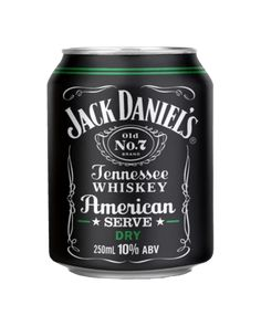 Jack Daniel's American Serve & Dry Cans 250mL