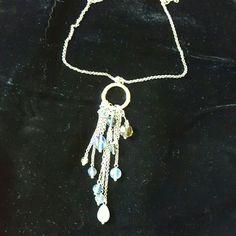 LiaSophia Misty glass beaded necklace 26 to 29 inches originally $50 Lia Sophia Jewelry Necklaces