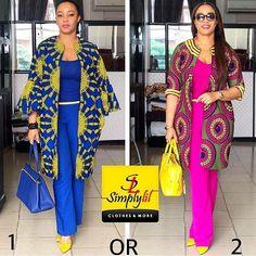 Modern Trendy Ankara Styles For Ladies African Attire, African Wear, African Dress, Ankara Styles For Men, Ankara Gown Styles, Ankara Peplum Tops, Ankara Skirt, Ankara Blouse, Kimono Fashion