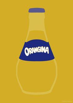 An minamilistic illustration of the famous Orangina bottle which has remained unchanged since 1951. orangina art. orangina drawing