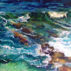 Кусочек Критского моря #watercolor#Crete#sea#Greece#IrinaGlazunova#Gira_sea by iglazunova