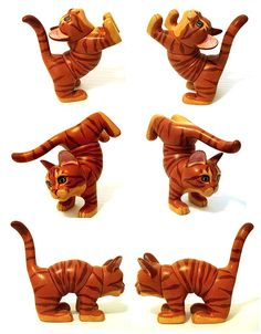 Twist-O-Cat Wooden One of a Kind