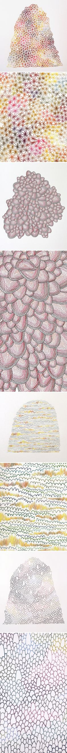 emily barletta - embroidery on paper