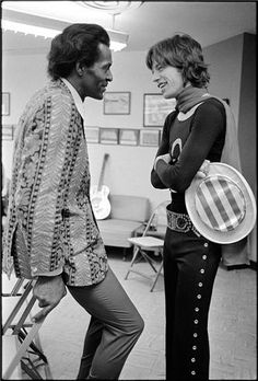 Mick Jagger and Chuck Berry 1969...