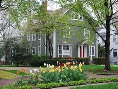 A view from the front of the Wilmette, IL home that we built an addition on. The job also included residing.