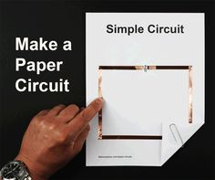 5 Free Paper Circuit Templates - Paper circuits are great makerspace projects for teaching electricity & circuits. Paper Circuit Tutorial PDF