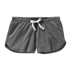 """Old Navy Womens Super Soft Jersey PJ Shorts 2"""" - Heather charcoal ($14) ❤ liked on Polyvore featuring shorts, bottoms, pajamas, pants, women and old navy"""