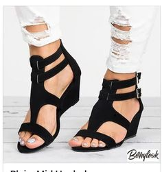 da16590070 2018 New Style Sandals Women Shoes Woman Summer Platform Wedges Vintage High  Heels Open