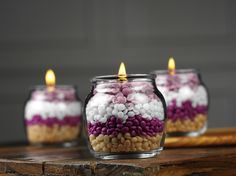 Glimmer Candle Kit - 6- La Belle Petite Glass Container & 6 wicks   Glimmer Candle Kit - La Belle Petite Glass w/6 wicks.  3 jars of sprinkles (1 jar makes 2 candles) are required to make 6 candles using this kit.   Pink Zebra's sprinkles are so versatile.  The possibilities of what you can do with them are endless.