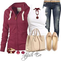 A fashion look from October 2013 featuring Fat Face hoodies, Soaked in Luxury tops and GUESS jeans. Browse and shop related looks.
