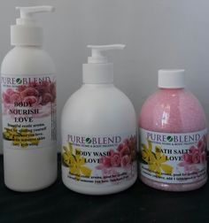 PURE BLEND - hand made organic and natural range of body and home care products that were not only affordable for all but also used high quality ingredients Body Wash, Bath And Body, Exotic, Pure Products, Beautiful, Shower Gel
