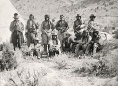 Pah-Ute (Paiute) Indian group, near Cedar, Utah, in 1872. (Timothy O'Sullivan/National Archives and Records Administration)