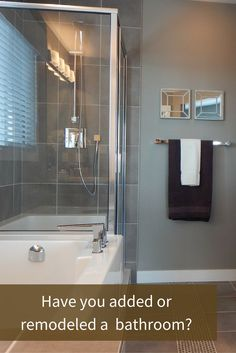Remodeling an outdated bathroom can have a weighty impact on your home's price.   An additional bathroom does not have to be expensive, and what is more, you can recoup up to 80% of your expenses.
