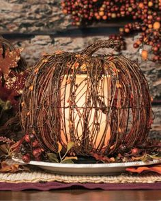 You can add this to your fall home decor collection! Use any color simmer light with our twig pumpkin shade. Don't forget to add sprinkles and fragrance your home! To view our full selection of warmers and wax or to purchase, visit www.pinkzebrahome.com/jamiestaggs  #home #fragrance #fall #autumn #fallscents #pumpkin #wax #apple #decor #buyitnow #onlineshopping #party #falldecor #simmeringlight