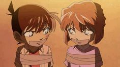 Conan and Ai kidnapped Detective Conan Ran, Detective Conan Shinichi, Ran And Shinichi, Kudo Shinichi, Bape Wallpapers, Detektif Conan, Magic Kaito, Case Closed, All Anime