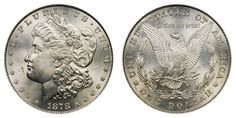 1878 Morgan Silver Dollar - 8 Tail Feathers