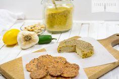 Raw Vegan Jalapeno  Cashew Cheese - takes only 5 mins to make!