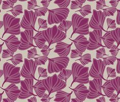 Tulip Seeds Berry fabric by leeandallandesign on Spoonflower - custom fabric
