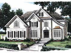 New American House Plan with 3215 Square Feet and 5 Bedrooms(s) from Dream Home Source | House Plan Code DHSW05987
