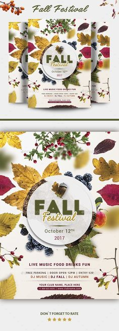 "atmospheric, autumn, autumn flyer, autumn party, bash, brown, business, concert, creative, fall, Fall flyer, forest, forest flyer, leafs, leaves, light, modern, mushroom, music, nature, orange, party flyer, poster, print, psd, template, winter, wood, wood flyer, Yoopiart Features  A4 file (210×297mm or approx. 8.27""x11.69"") with 3mm bleeds CMYK/300 DPI Very Easy to Customize Well Organized Layers All Text is editable Print Ready PSD File   Free fonts used in the design  Big John Dancing…"