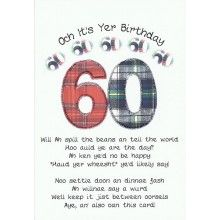 Scottish keepsake card a hole in one all types of cards birthday card 60 happy birthday 60 scottish keepsake card m4hsunfo
