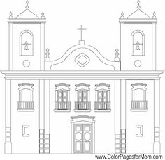 177 best buildings houses places parks coloring pages images on