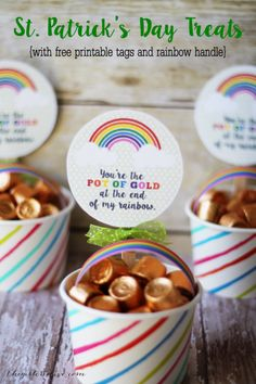 Rainbow Treat Cups for St. Patrick's Day