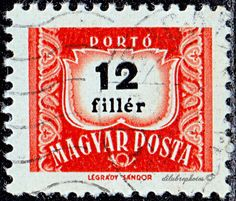 Hungary.  1st Hungarian postage due stamp, 50th anniv.  Scott J232 D13, Issued  1953, Photo., Numeral Typo. in Black. 12. /ldb.