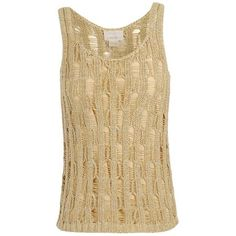 M PATMOS Metallic yarn open knit tank top ($430) ❤ liked on Polyvore