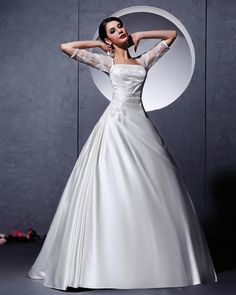 Long Sleeve Ball Grown Wedding Gown Dress