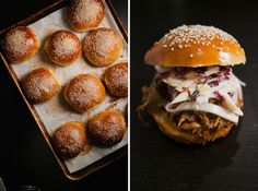 Pulled Pork Sandwiches with Fennel, Apple, and Radicchio Slaw