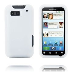 Soft Shell (Hvit) Motorola Defy Deksel