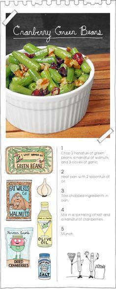 The Vegan Stoner's Cranberry Green Beans