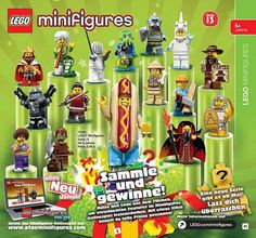 A German poster of Series 13 Collectible Minifigures has surfaced today. The minifigs will be...