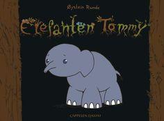 Om boka: Elefanten Tommy tenkjer på døden.  Boka har få setningar på kvar side. Nokre sider er det berre teikningar. Enkelt språk og stor storleik på bokstavane.  Flott og litt trist bok om elefanten Tommy. Teikningane er fine og enkle, og heldigvis gjeng det betre til slutt! Om, Snoopy, Fictional Characters, Elephants, Fantasy Characters