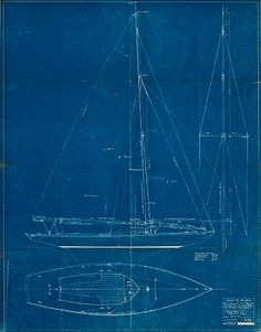 boat blueprints - would love to find a way to incorporate these somehow. Totally Chris