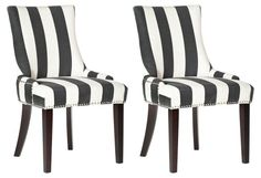 Charcoal Lester Dining Chairs, Pair