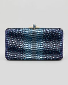 Airstream Large Ombre Clutch Bag, Champagne/Dark Indigo by Judith Leiber Couture at Neiman Marcus.