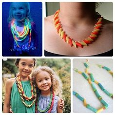 Una divertida manualidad con pasta Diy For Kids, Crafts For Kids, Arts And Crafts, Diy Crafts, Princess Crafts, Art Projects, Projects To Try, Kids Jewelry, Art Lessons